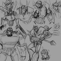 Transformers Prime Decepticon Sketches by CarnivorousTwinkie