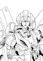 Arcee Booth Sketch inked by neurowing