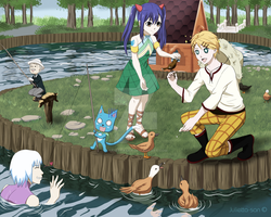 Crossover on the lake by Julietta-san