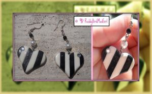 Black And White Collection_Earrings by ReddyBirdMadGirl