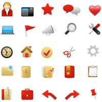 Red Vector Web Icons by FreeIconsFinder