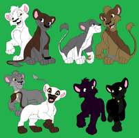 wolf rain as lion cubs by wolvesanddogs23