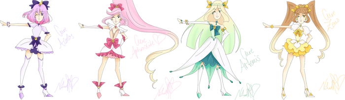 Goddess PreCure! in new Outfits - Doodle by RoronoaZoroLover