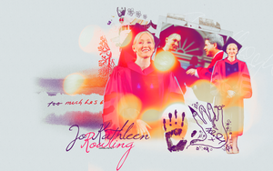 J.K. Rowling Wallpaper by OneDestinyy