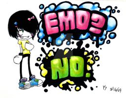 EMO?NO. by PUNKYporcupine