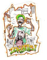 Zombeh sticker by Selkie33