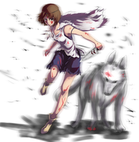 Princess Mononoke by midorisprite