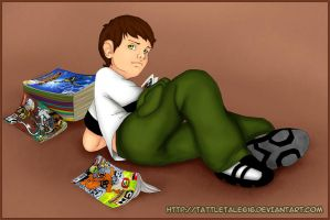 Ben reading by Tattletale616