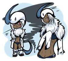 [CLOSED] Absol Gijinka by OkayIlie