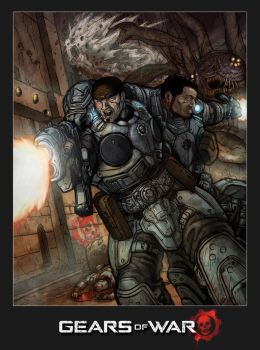 Gears of War by MarcWasHere