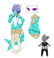 Shark girl adopt (Closed) by AzrealRou