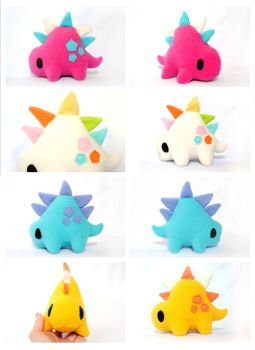 Handmade Stego Plush summer color collection by pookat