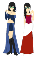 Tian and Yue's Dresses by AlexFuji18