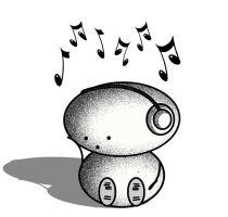 Wellie Bob loves music by MishMashUK