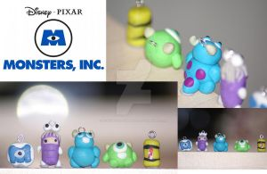 Monsters Inc Charms by teacupwithtentacles
