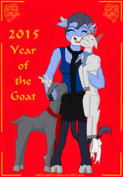 Year of the Goat - loved by Brass Knuckles by RiftwingDesigns