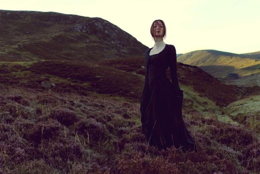 Woman in the Highlands by FleurDelacour