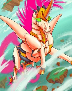Mecha Unicorn GO by Los-Chainbird