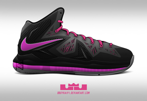 Nike Lebron X PS Elite 'Miami Nights' by BBoyKai91