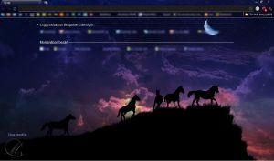 Horses At Night - Chrome Theme by taniva