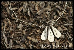 Leaf Trio Necklace by JMWJewelry