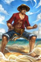 MONKEY D. LUFFY by richytruong