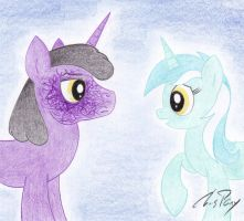 Ebon Magus (without his mask) and Lyra by TheChrisPony