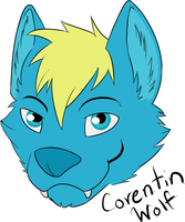 Corentin Wolf Face by Corentinwolf