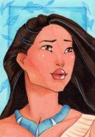 Pocahontas-ACEO by Faerytale-Wings