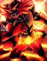 Incineroar by DawnbreakerDESIGNS