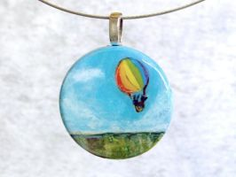 Hot Air Balloon Ride Pendant by sobeyondthis