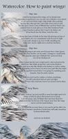 Tutorial : How to paint wings Watercolor by ENwings