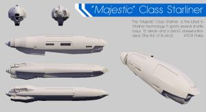 'Majestic' Class Starliner by daTSchikinhed
