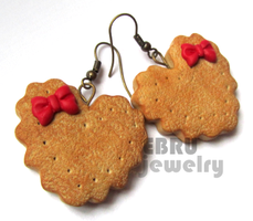 Heart Shaped Cookie earrings by Lovely-Ebru
