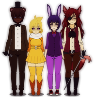 Fazbear and Co. by cappiness