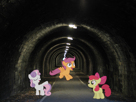 Cutie mark crusaders in a Tunnel by FunnyGamer95