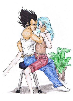 vegeta and bulma face