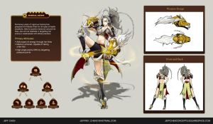 Valient Force hero design contest: Martial Artist by jeffchendesigns