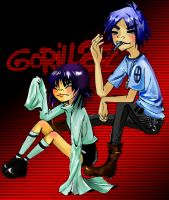 Noodle and 2D by silent-requiem