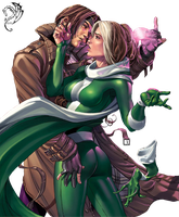Rogue and Gambit 2 by krzysycd