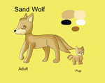 Sand Wolf - Species Reference by KendraTheShinyEevee