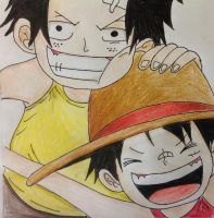 Ace and Luffy by IkSdHkPk