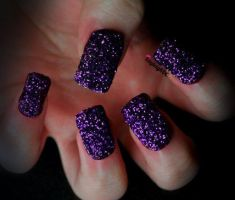 Purple Glitter by KayleighOC