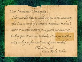 Mutation Nordanner Letter by StableDaydreams