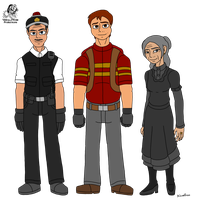 Cars: Sheriff, Red, and Lizzie by Aileen-Rose