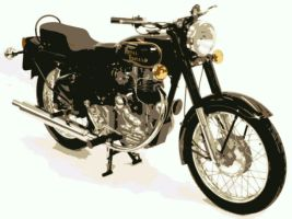 Royal Enfield Bullet paint by number art Kit by numberedart