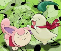 Skitty and Chikorita - Team Kiseki - 2nd Version by LiviaRedo
