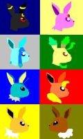 Eevee and its Evolutions by Wavespirit