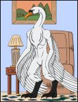 Anthro Swan TF pg5 by Ravenfire5
