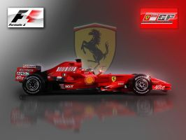 Ferrari f2008 Wallpaper by tmr5555